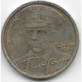 2 рубля. 2001 г. СПМД. Гагарин. 10-3-700