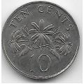 10 центов. 1986 г. Сингапур. 10-4-719