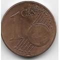 1 евроцент. 2013 г. Австрия. 4-2-528