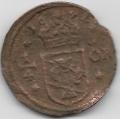 1/4 эре. 1641 г. Швеция. 4-2-551