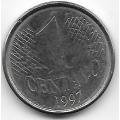 1 сентаво. 1997 г. Бразилия. 4-4-421