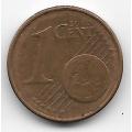 """1 евроцент. 2002 г. Германия. """"A"""". 4-5-243"""