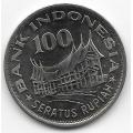100 рупий. 1978 г. Индонезия. Древо жизни. 6-5-673