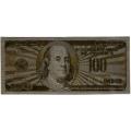 100 долларов США. Подарочная банкнота. Покрытие золотой фольгой. Б-1369
