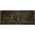 2 доллара США. Подарочная банкнота. Покрытие золотой фольгой, цветная. Б-1374