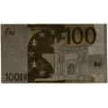 100 евро. Подарочная банкнота. Покрытие золотой фольгой. Б-1370