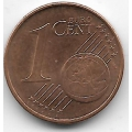 """1 евроцент. 2012 г. Германия. """"A"""". 5-1-469"""