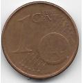 """1 евроцент. 2002 г. Германия. """"F"""". 5-1-479"""