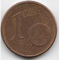 """1 евроцент. 2004 г. Германия. """"J"""". 5-1-480"""