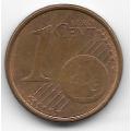1 евроцент. 2002 г. Италия. 5-3-726