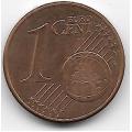 1 евроцент. 2011 г. Австрия. 5-3-732
