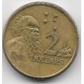 2 доллара. 2004 г. Австралия. Абориген. 5-5-612