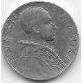 5 лир. 1953 г. Ватикан. Пий XII. 11-2-271