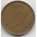 1 цент. 1970 г. Родезия. 11-3-236