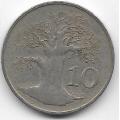 10 центов. 1980 г. Зимбабве. Баобаб. 7-4-520