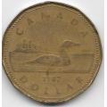1 доллар. 1987 г. Канада. 7-3-514