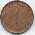 1 цент. 1972 г. Родезия. 12-2-587