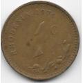 1 цент. 1974 г. Родезия. 6-4-472