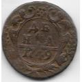Денга. 1749 г. Российская Империя. 6-1-692