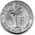 1 франк. 1960 г. Руанда-Урунди. 19-5-166