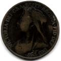 1 пенни. 1900 г. Великобритания. Королева Виктория.16-3-624