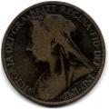 1 пенни. 1898 г. Великобритания. Королева Виктория. 16-3-625