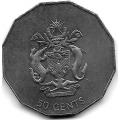 50 центов. 2005 г. Соломоновы Острова. 16-3-629