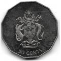 50 центов. 1997 г. Соломоновы Острова. 16-3-640