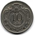 10 геллеров. 1909 г. Австро-Венгрия. 16-4-418