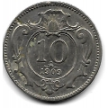 10 геллеров. 1909 г. Австро-Венгрия. 16-4-421