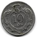 10 геллеров. 1910 г. Австро-Венгрия. 16-4-422