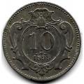 10 геллеров. 1895 г. Австро-Венгрия. 16-4-423