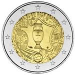 """2 евро """"Чемпионат Европы по футболу 2016 г."""" в продаже."""