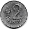 2 цента. 1991 г. Литва. 12-5-464