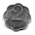 2 пайса. 1976 г. Индия. 12-2-637