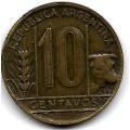 10 сентаво. 1949 г. Аргентина. 1-7-38