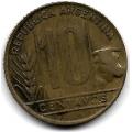 10 сентаво. 1949 г. Аргентина. 1-7-39