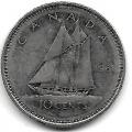 10 центов. 1981 г. Канада. Корабль-парусник. 15-6-277