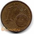 """1 евроцент. 2002 г. Германия. """"J"""". 4-1-353"""