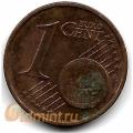 """1 евроцент. 2002 г. Германия. """"G"""". 4-1-354"""