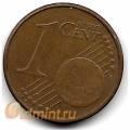 """1 евроцент. 2004 г. Германия. """"F"""". 4-1-356"""