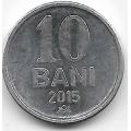 10 бани. 2015 г. Молдова. 12-2-663