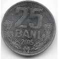 25 бани. 2015 г. Молдова. 12-2-666