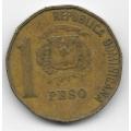 1 песо. 1992 г. Доминиканская Республика. 12-5-517
