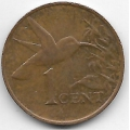 1 цент. 2001 г. Тринидад и Тобаго. Колибри. 12-5-532