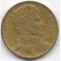 10 песо. 1992 г. Чили. Бернардо О'Хиггинс. 12-5-540