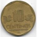 10 сентимо. 2011 г. Перу. 12-5-556