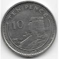 10 пенсов. 1994 г. Гибралтар. Мавританский замок. 19-5-198