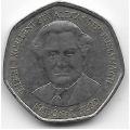 1 доллар. 1999 г. Ямайка. Вильям Александр Бустаманте. 19-5-201