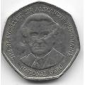 1 доллар. 1996 г. Ямайка. Вильям Александр Бустаманте. 19-5-205